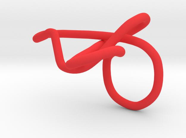 ring rood kronkels goed 3d printed