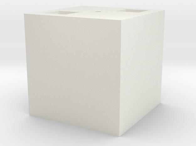 Building Blocks in White Natural Versatile Plastic