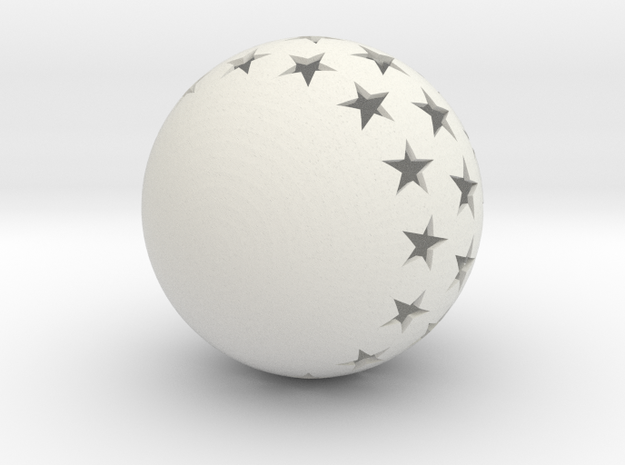 Christmasball in White Natural Versatile Plastic