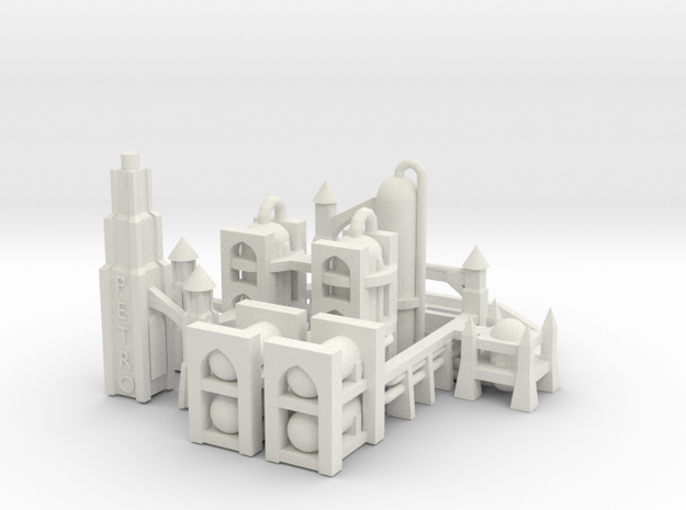 Gothic Refinery in White Natural Versatile Plastic