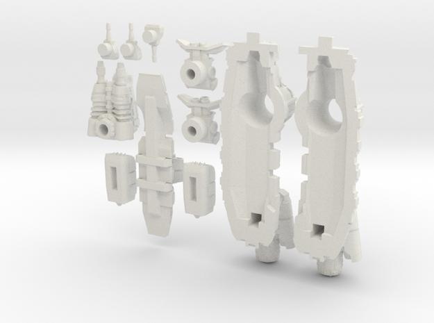 Titan Class - Assault Frigate in White Natural Versatile Plastic