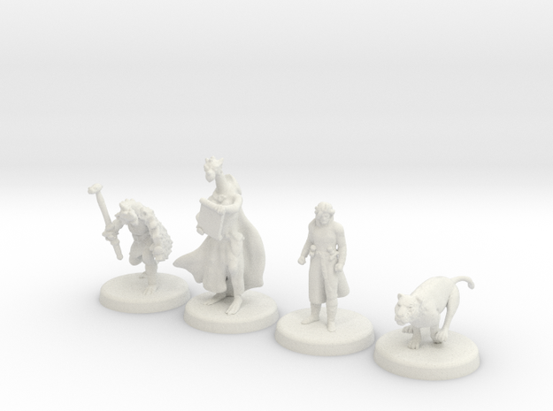 D&D Minis (Set one) in White Natural Versatile Plastic