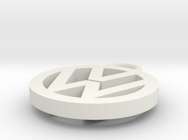VW pendant in White Natural Versatile Plastic