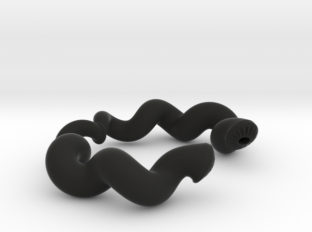 Twisted Geometry Bracelet 3d printed