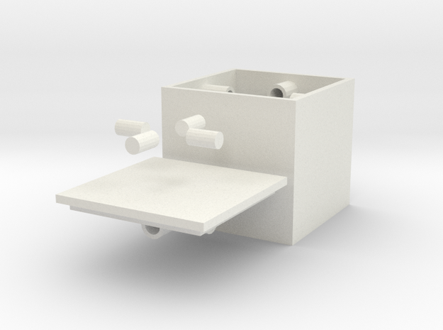 Small Centripetalbox in White Natural Versatile Plastic