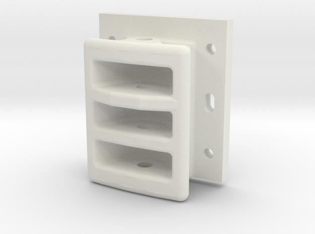 10418 Drawhead 5976 in White Natural Versatile Plastic