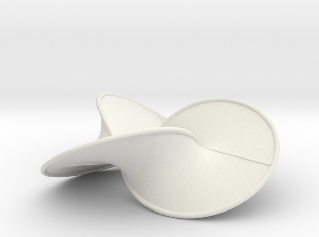 Trefoil Contact Surface (Billiard & Tube) 3d printed
