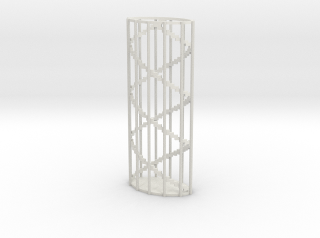 Flicka 1.2 Stairs in White Natural Versatile Plastic