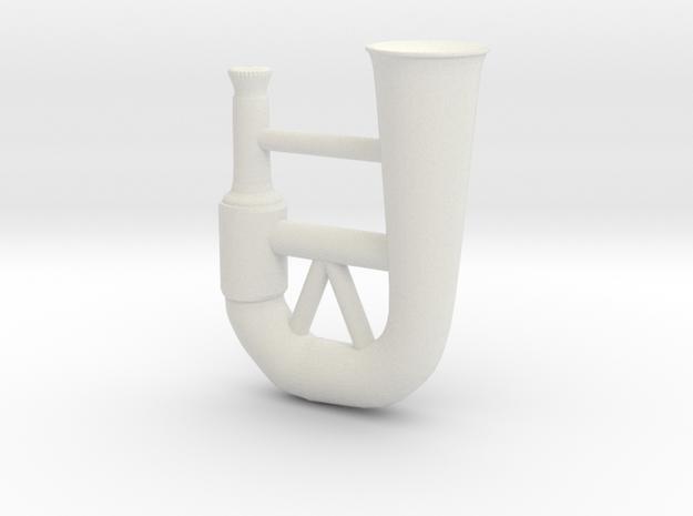 Horn in White Natural Versatile Plastic