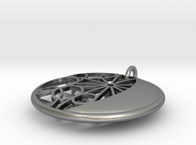 Moon Medallion 3d printed
