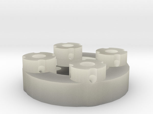 Sewable Disc Button; Detail Materials 3d printed