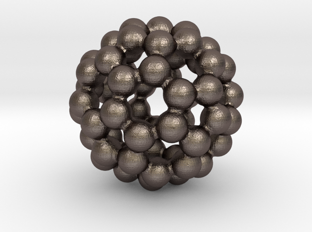 C60 - Buckyball - M - Steel in Stainless Steel
