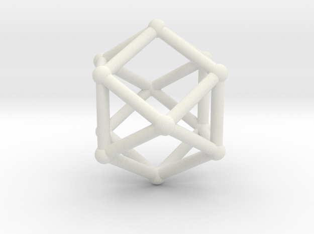 Cuboctahedron in White Strong & Flexible