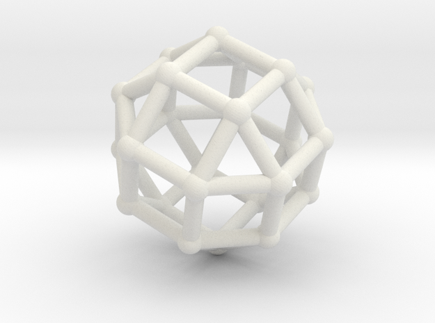 Rhombicuboctahedron in White Strong & Flexible