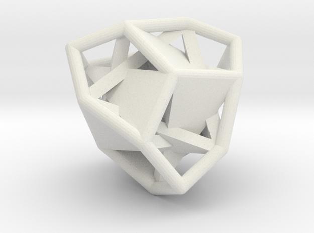 d12 tetartoid blank in White Natural Versatile Plastic