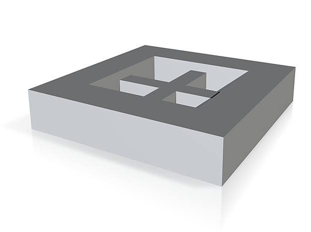 2d cube thick 3d printed