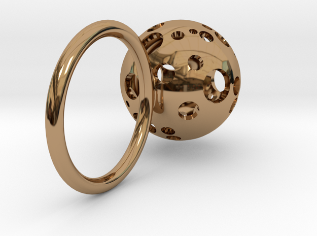 Large Moonball Ring 3d printed