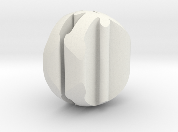 A Round To It in White Natural Versatile Plastic