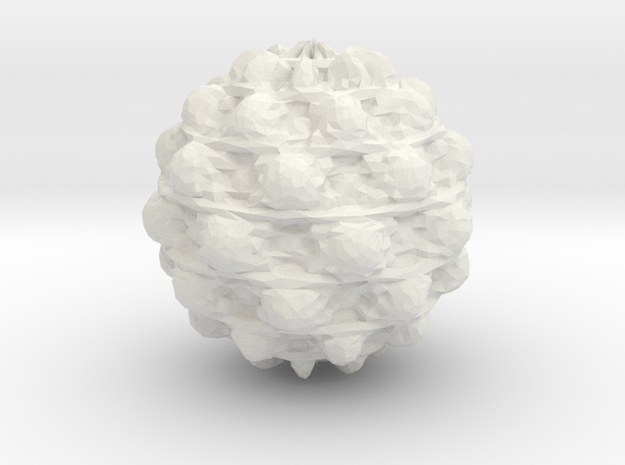 Mandelbulb-8 in White Natural Versatile Plastic