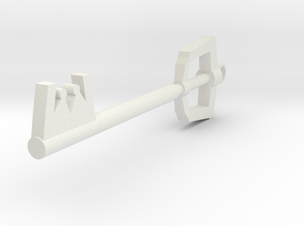 Keyblade Keychain in White Natural Versatile Plastic