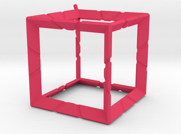 kubus ribbe 3d printed