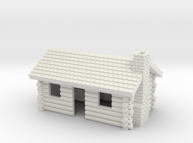 Log Cabin with chimney- Z scale