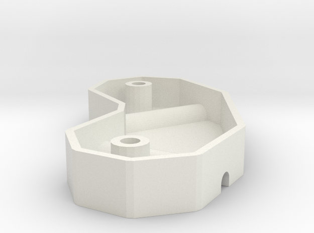 Reprap frame vertex mold in White Natural Versatile Plastic