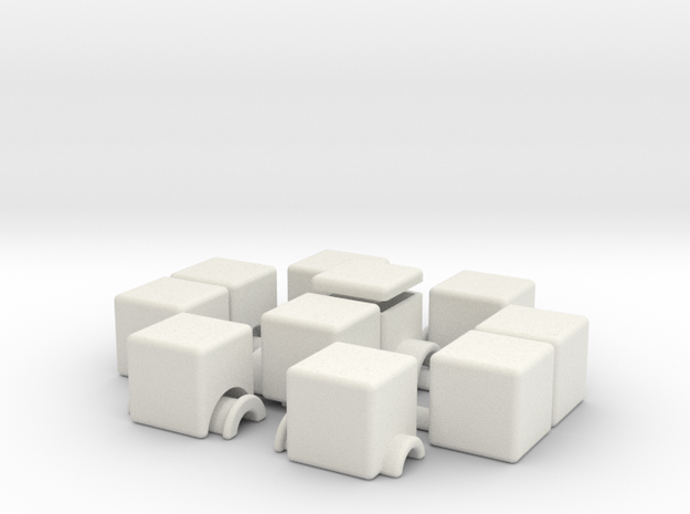 1x2x5 v2 (hollow) in White Strong & Flexible