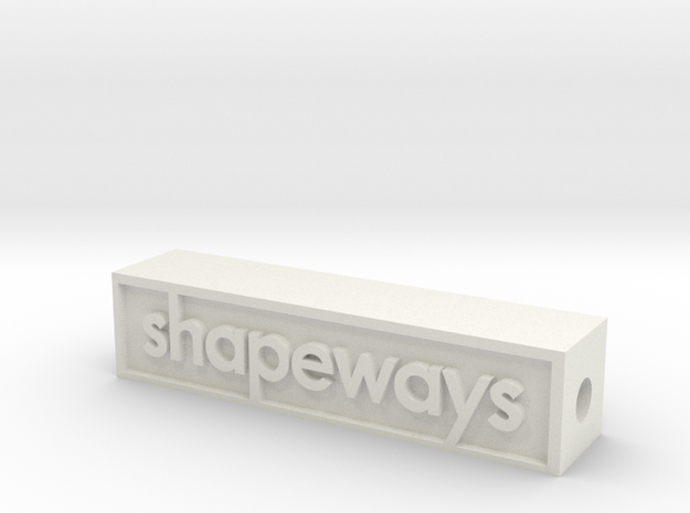 Glass Shapeways Logo in White Natural Versatile Plastic
