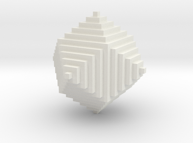 rhombic dodecahedron in White Natural Versatile Plastic