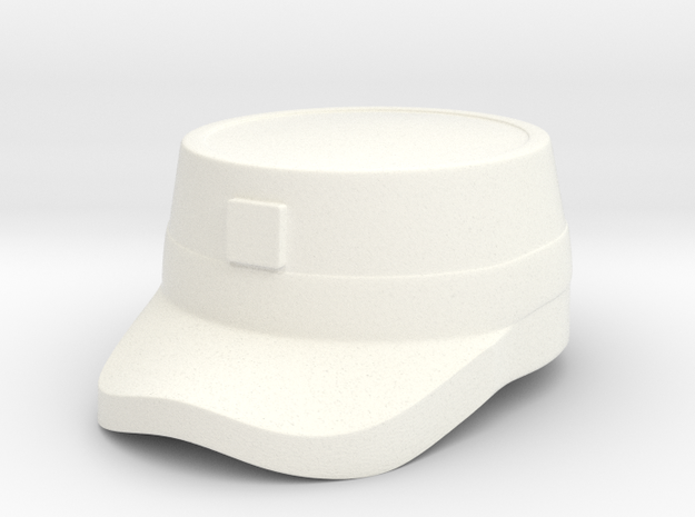 Patrol Cap II in White Strong & Flexible Polished