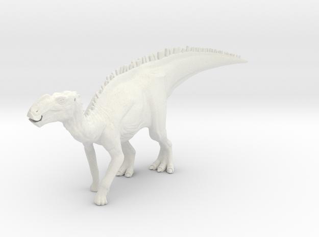 Gryposaurus Dinosaur Small SOLID in White Natural Versatile Plastic