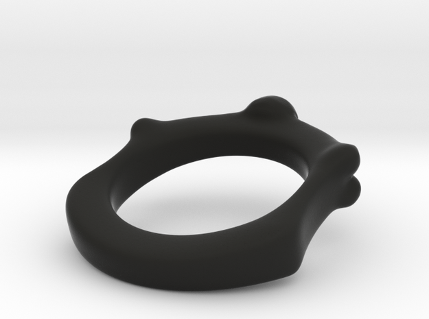 Skull and Bone Ring aprox. size 7 3d printed