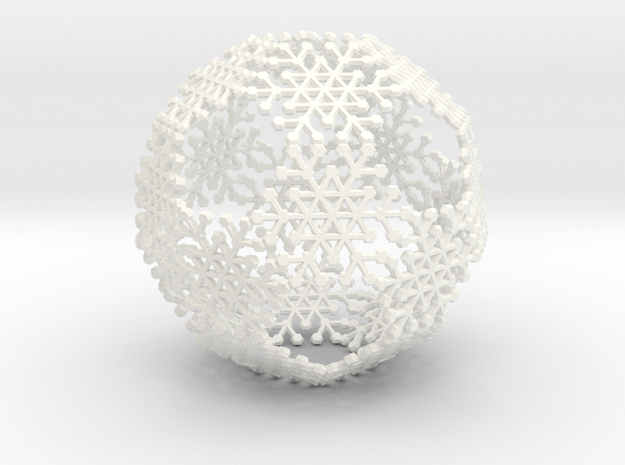 Snowflake #6 Ball Ornament 3d printed