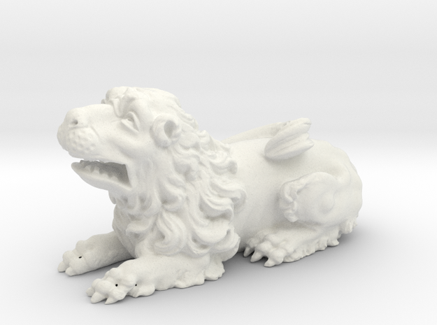 Lion V01 in White Natural Versatile Plastic
