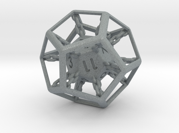 Chained die 12-sided