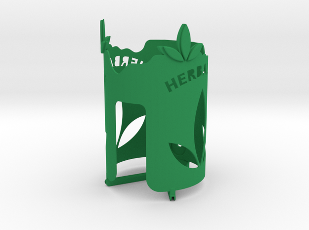 Bottle holder with HerbaLife name and logo in Green Processed Versatile Plastic
