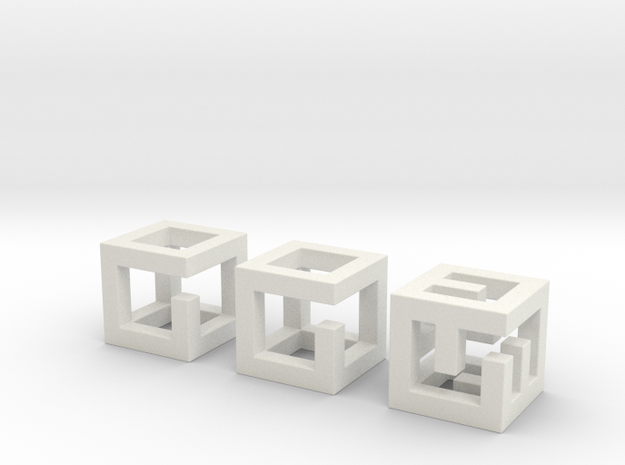 little maze-n-cubes (hollow 0.75mm walls) 3d printed