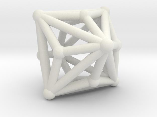 Triakisoctahedron in White Strong & Flexible