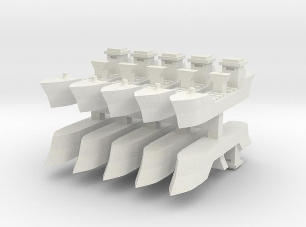 9 Transport 1:6000 x10 in White Natural Versatile Plastic