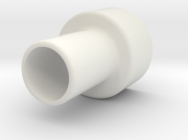 Microscope eyepiece adapter in White Natural Versatile Plastic