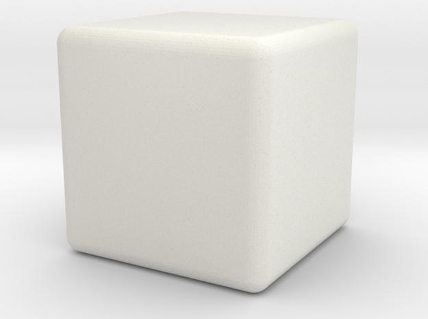 Micro 1x1x1 in White Natural Versatile Plastic