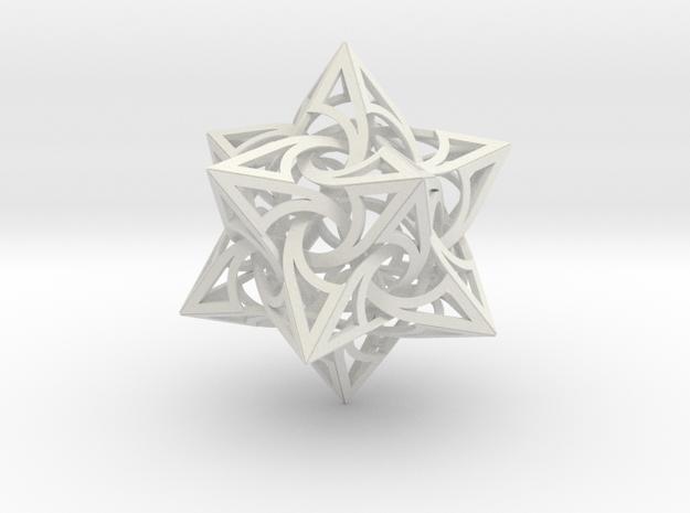 SWIRL 2 in White Natural Versatile Plastic
