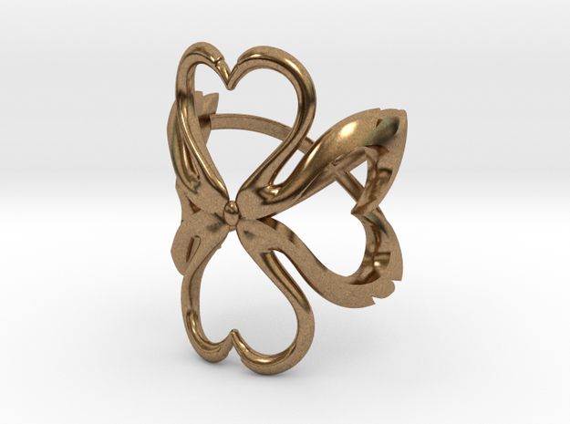 Swan-Heart Ring (small) 3d printed