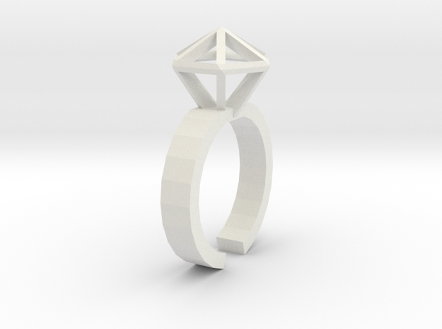 Stereodiamond Ring 3d printed 1