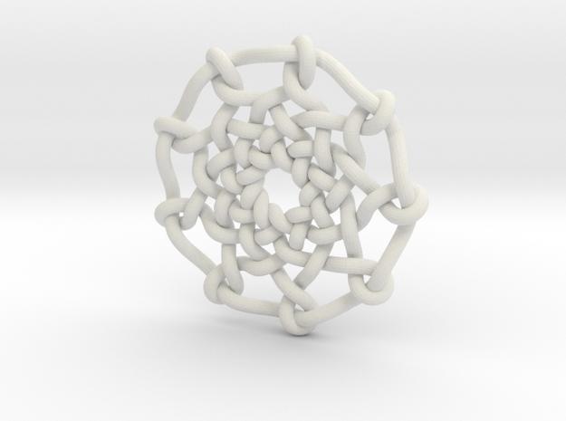 Celtic Knots 04 in White Natural Versatile Plastic