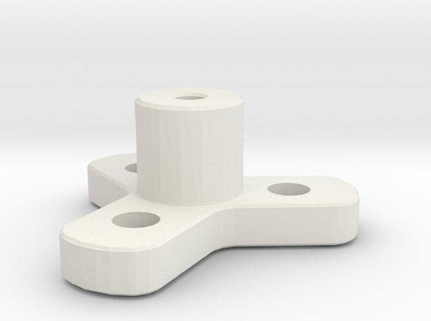 Wheel Mount in White Strong & Flexible