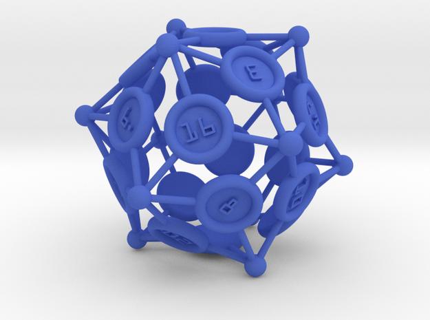 "d20 ""Spikes"" big & thin in Blue Processed Versatile Plastic"
