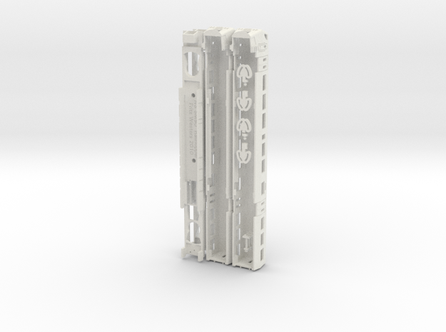 Railhopper N Schale in White Natural Versatile Plastic