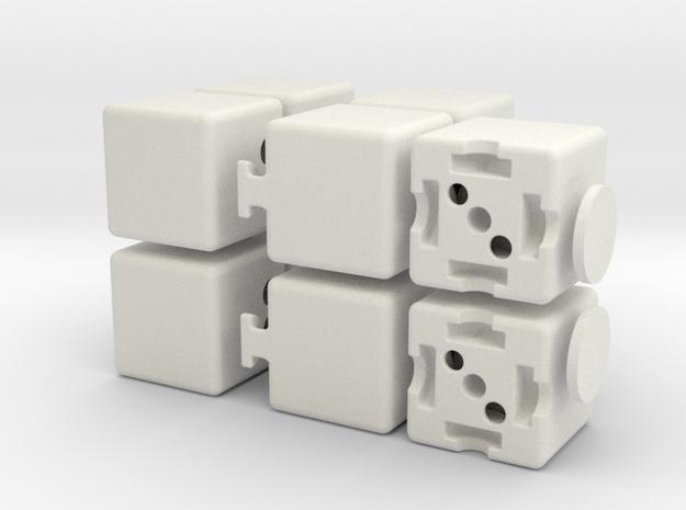 Plus 1x2x3 in White Natural Versatile Plastic